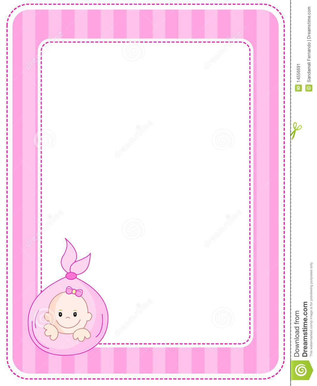 baby border frame stock vector illustration of edge 14556691
