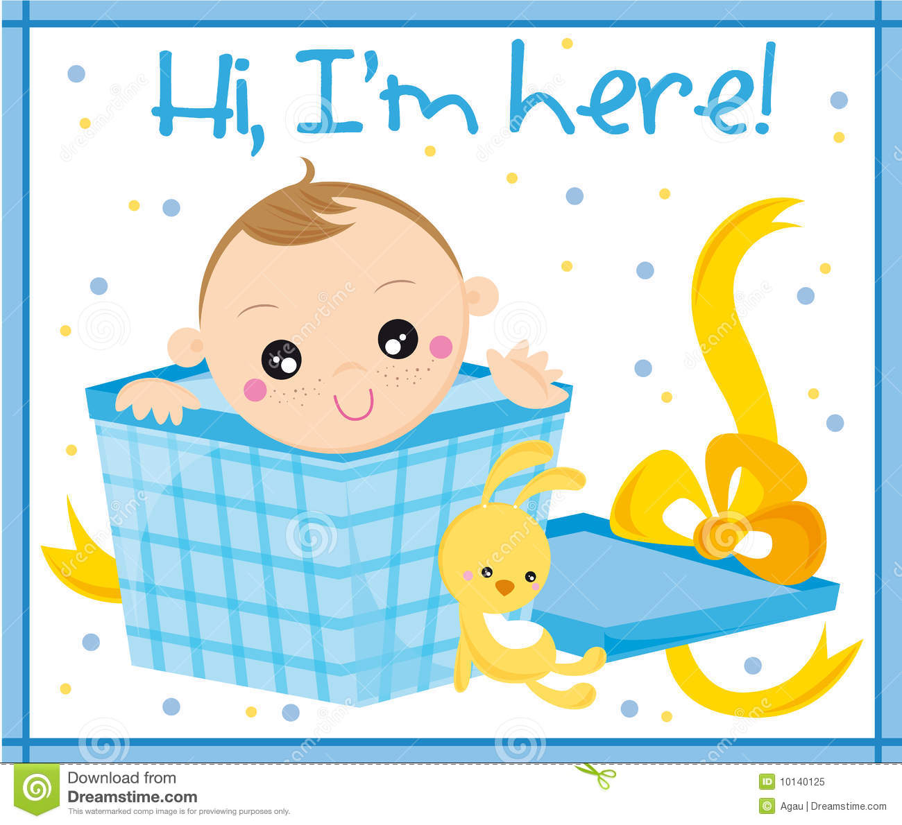 Baby born stock vector illustration of greetings small 10140125 greetings card with baby boy m4hsunfo