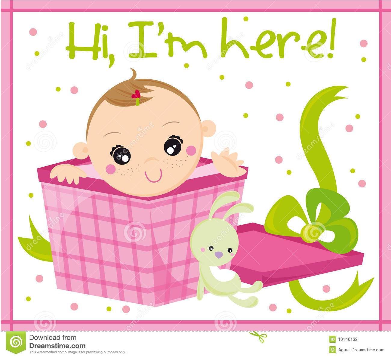 Greeting Card With The Birth Of A Baby Boy Stock Vector