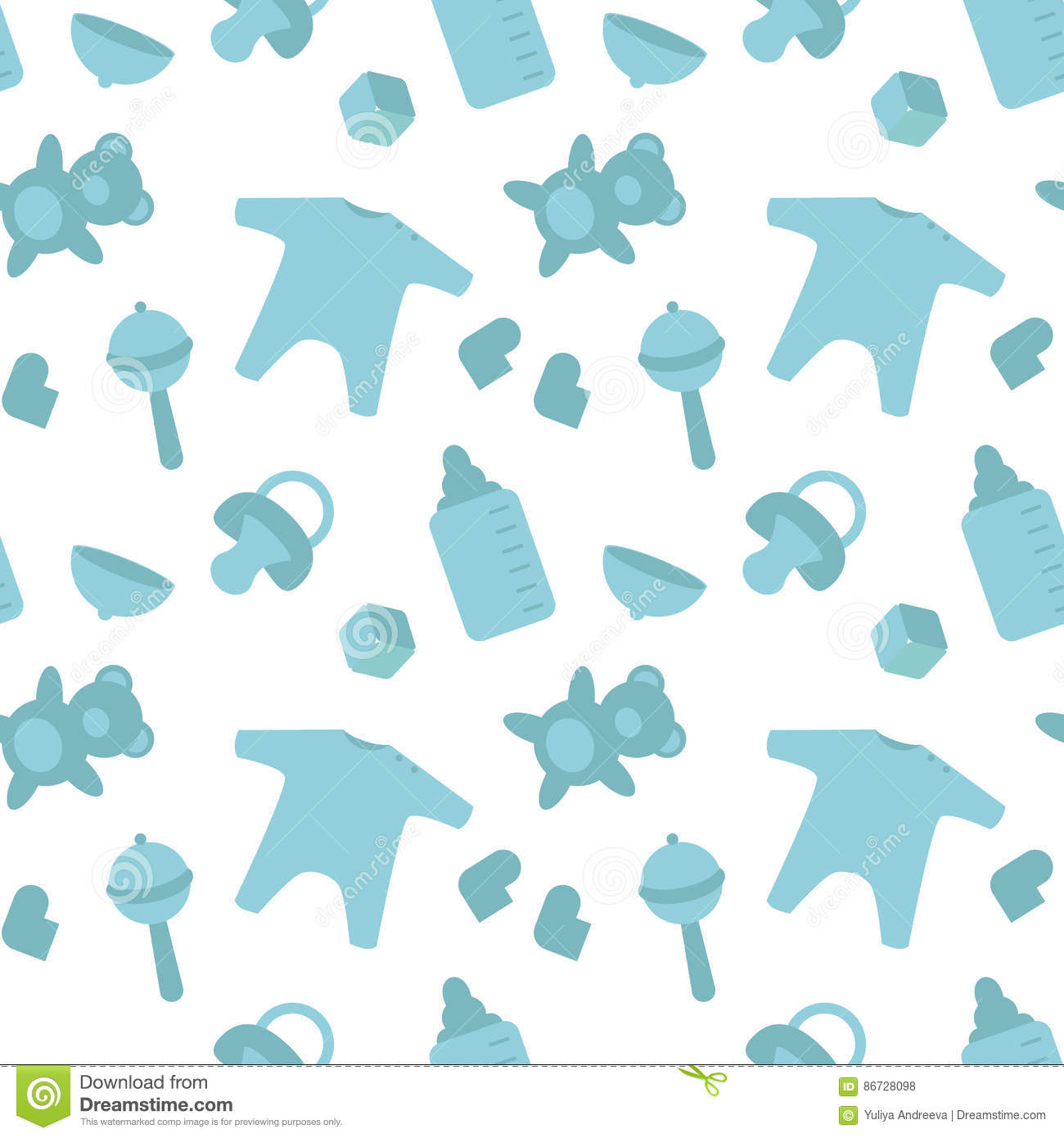 baby born blue things pattern newborn decor template wrapping