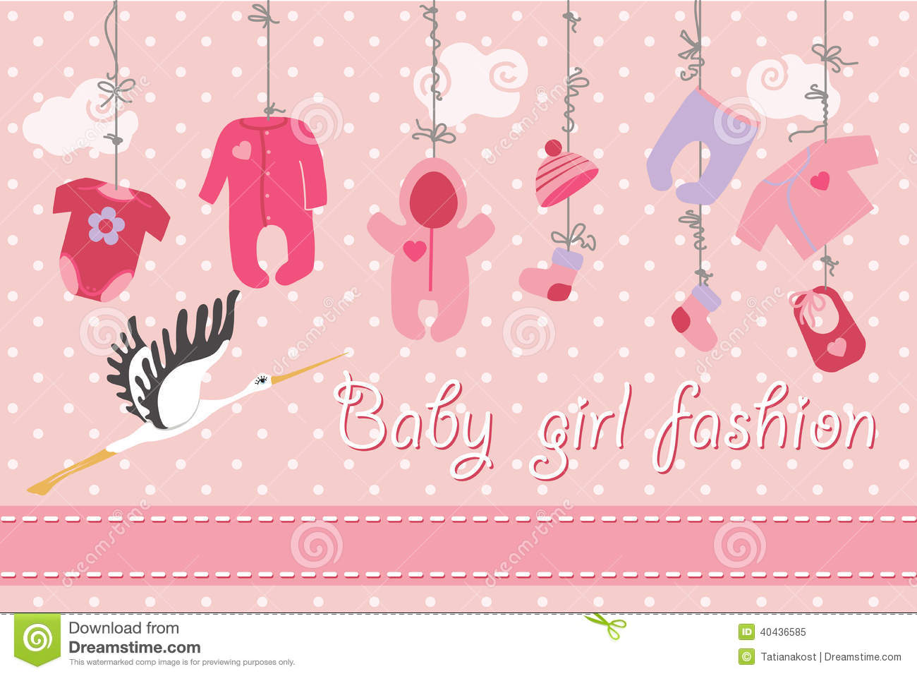 New Greeting For Baby Girl Born
