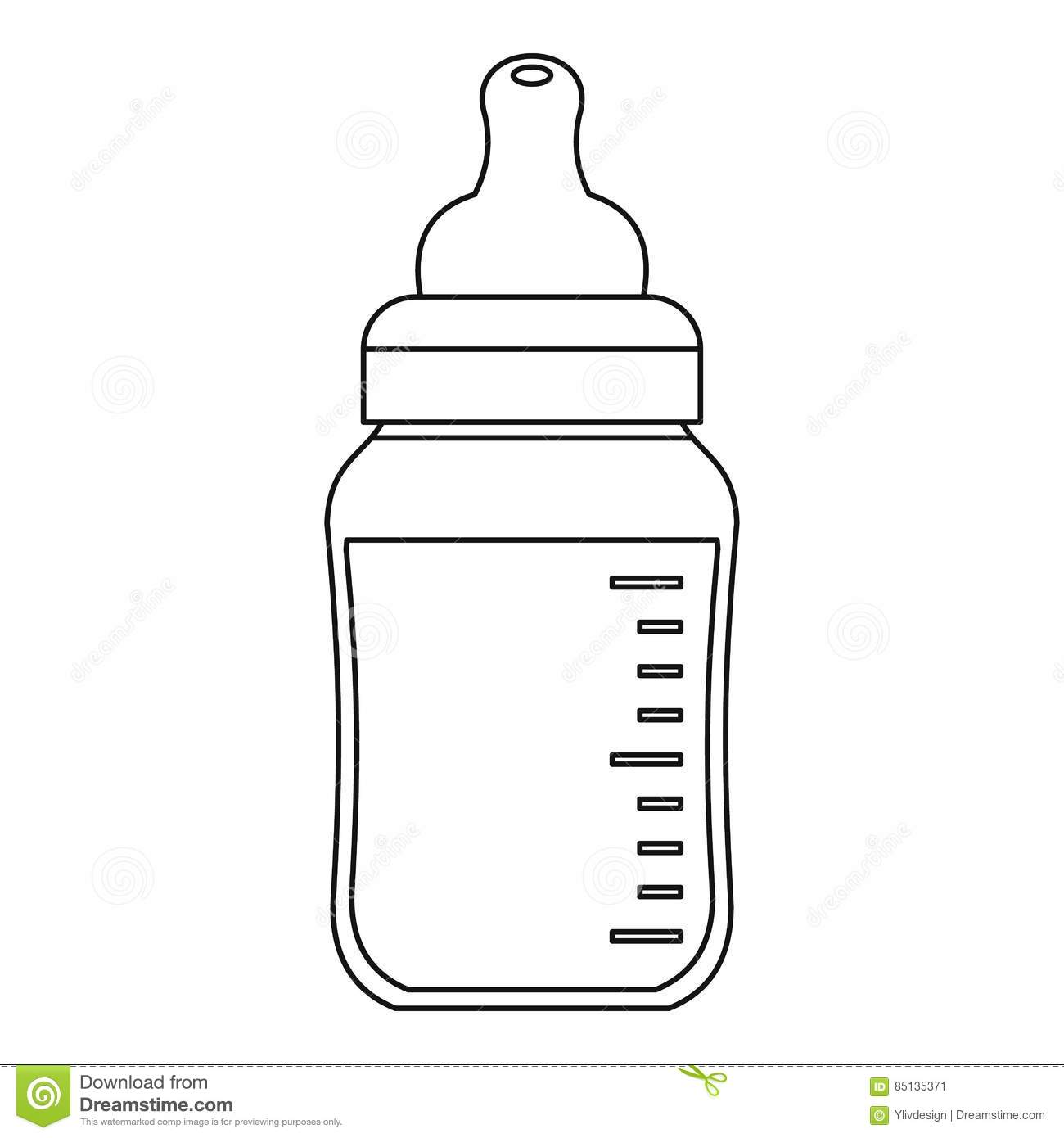 baby bottle outline template pictures to pin on pinterest