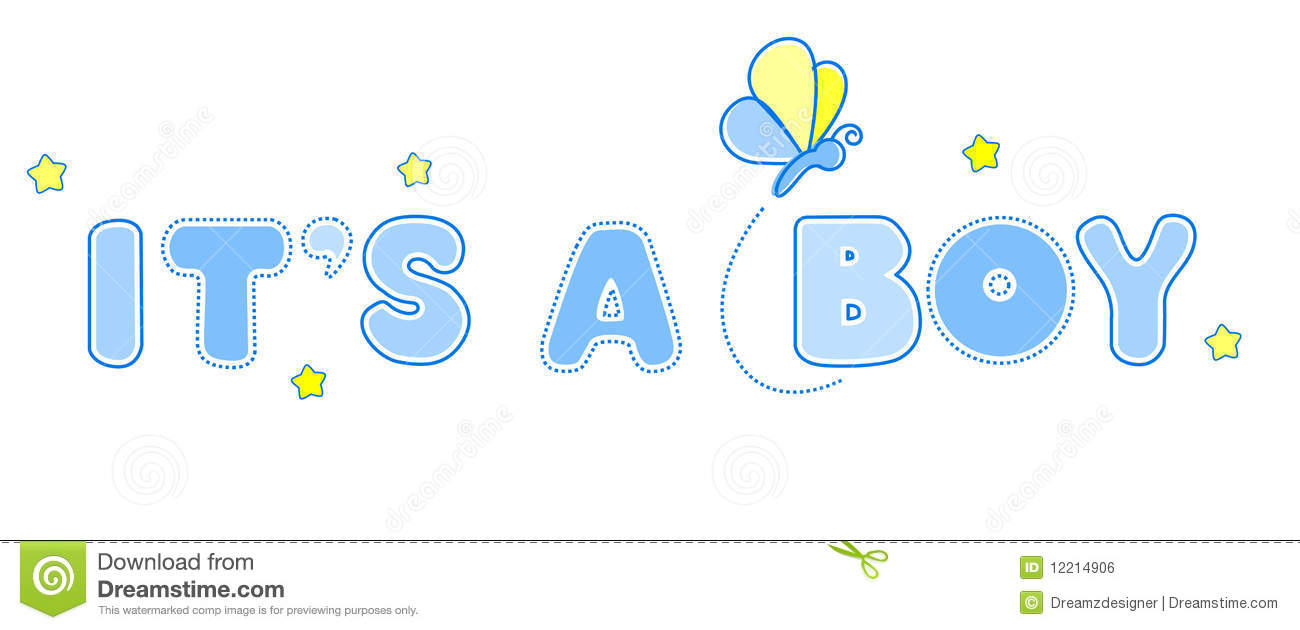 baby boy announcement royalty free stock image image