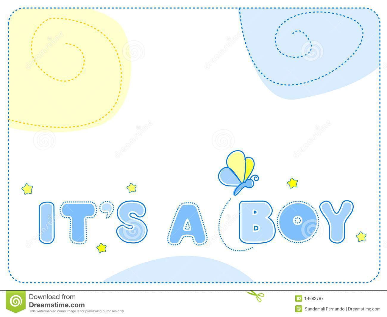 Baby Boy Announcement Royalty Free Stock Photography - Image: 14682787