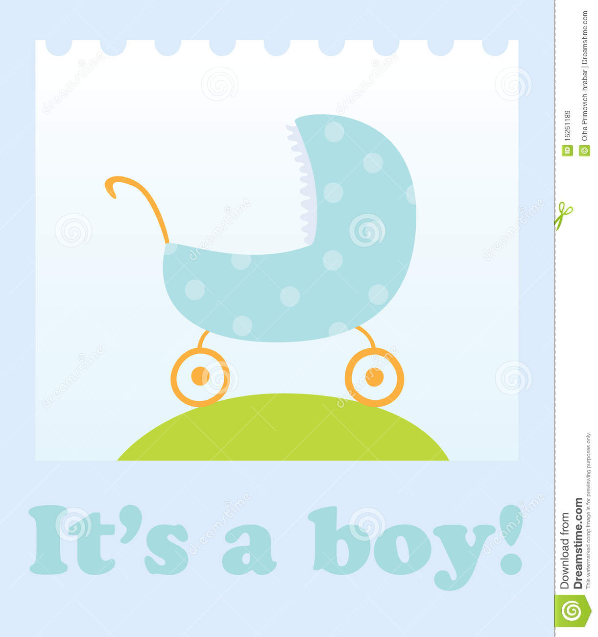 Baby Boy Announcement Royalty Free Stock Images - Image: 16261189