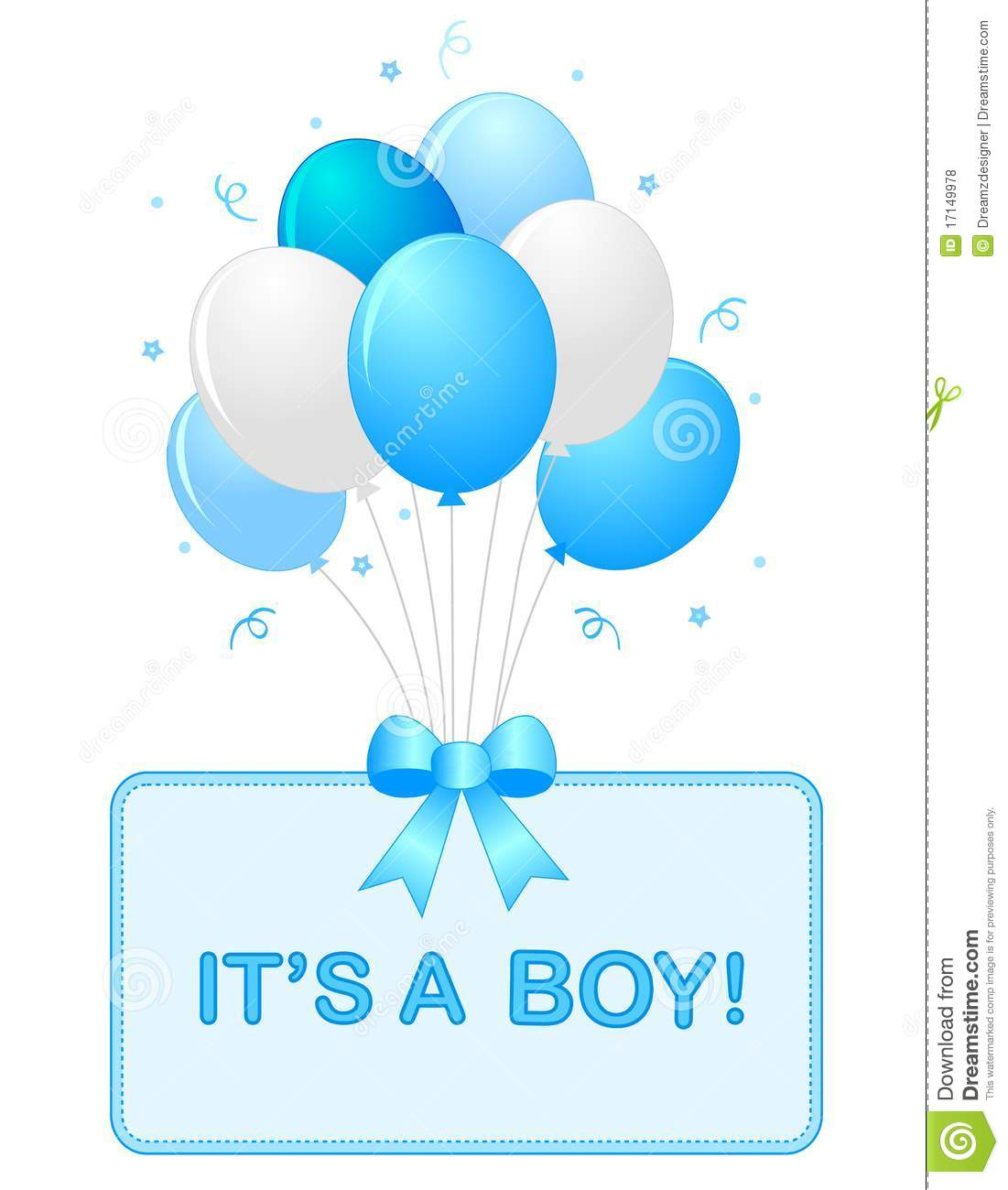 Baby Boy Announcement Royalty Free Stock Photos - Image: 17149978