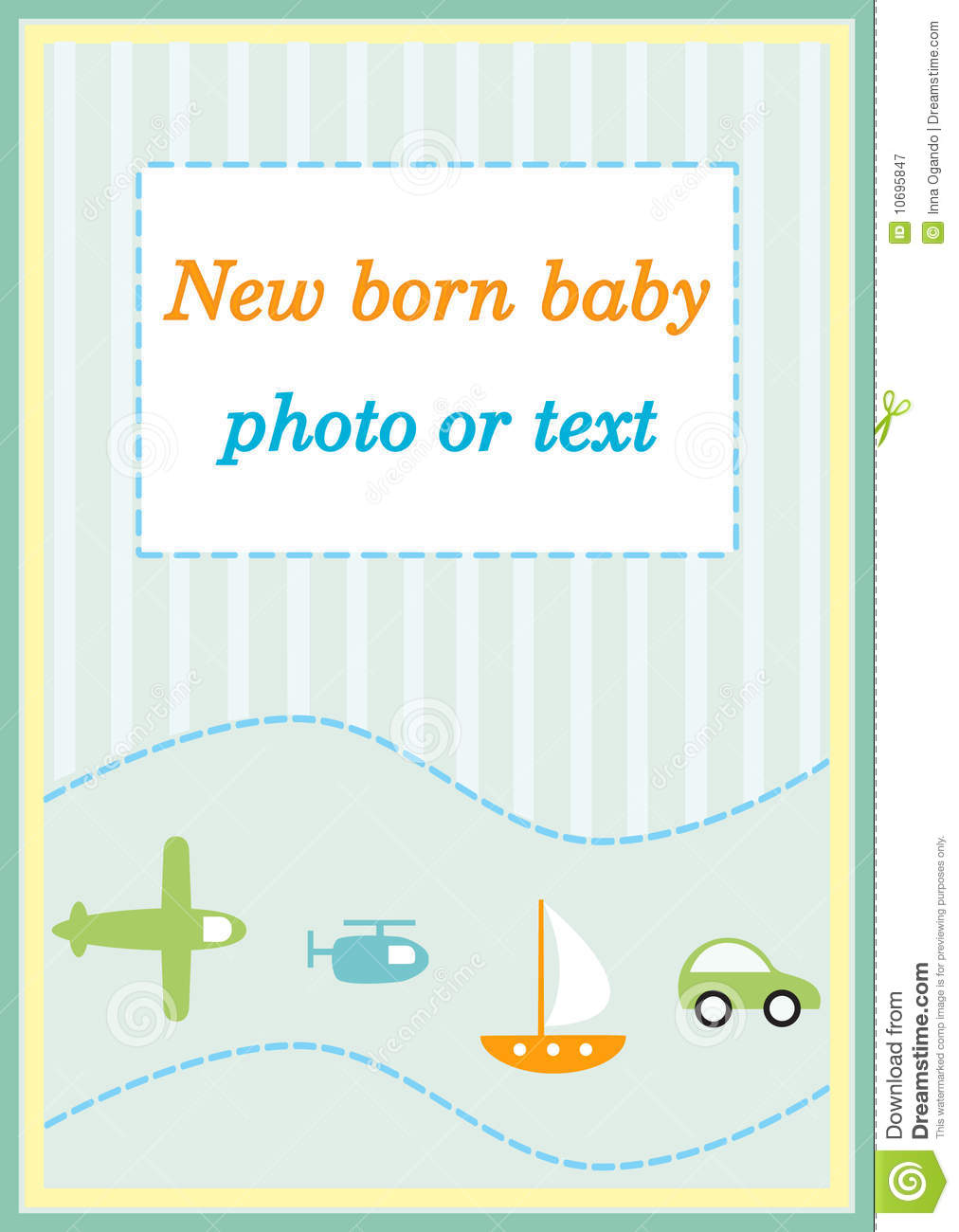 Baby boy announcement arrival card