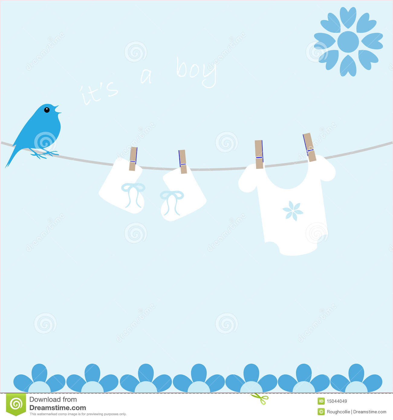Baby Boy Arrival Announcement Card Royalty Free Stock Images - Image ...