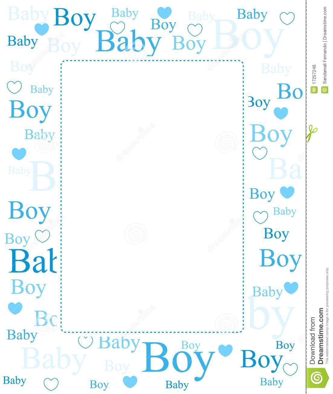 Baby Boy Arrival Card Background Stock Vector Illustration Of