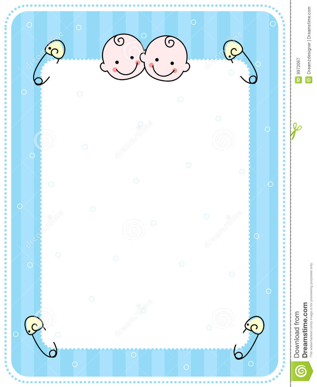 baby boy arrival card background stock vector   image