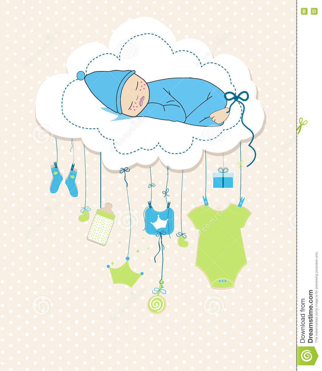 baby boy arrival greeting card  baby shower invitation