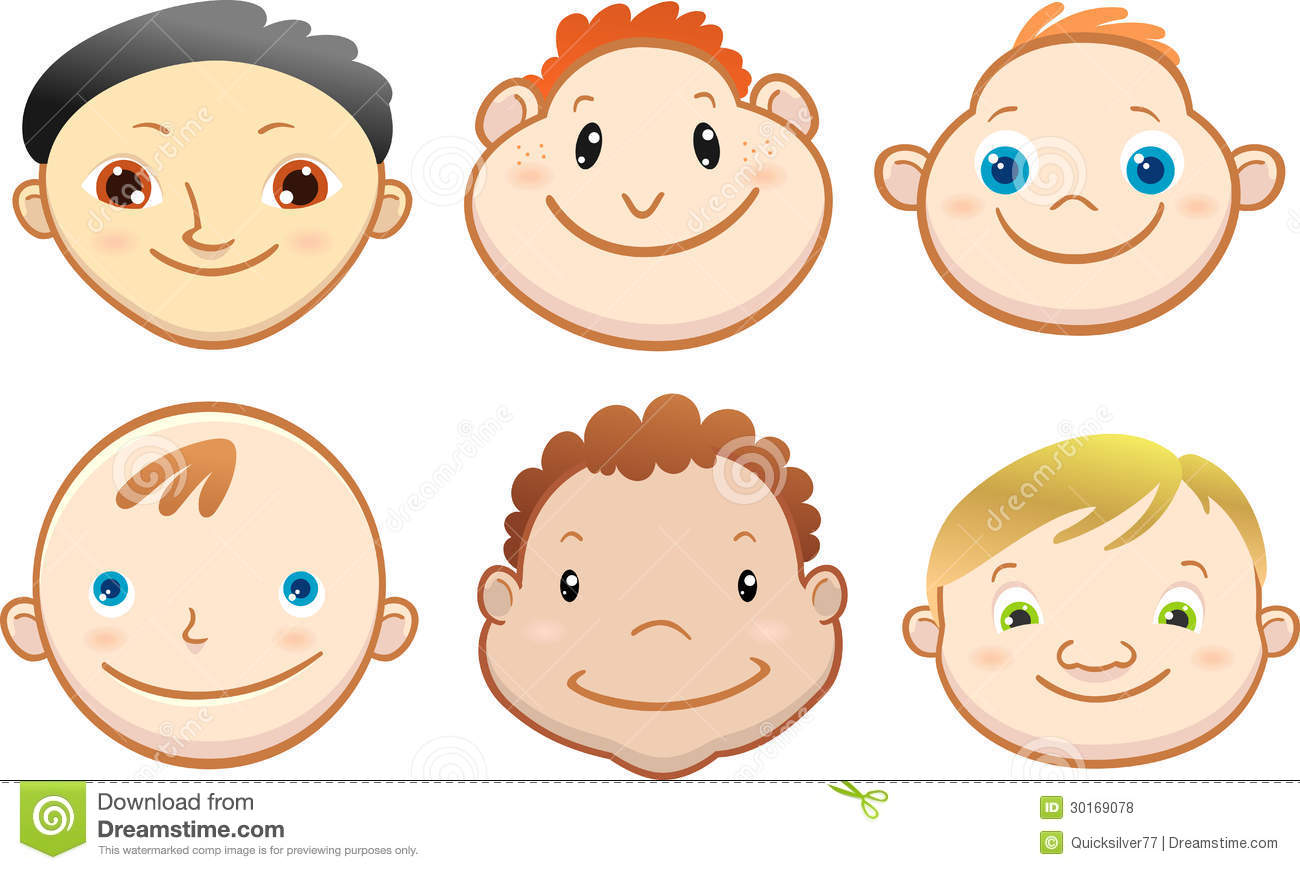 Cartoon Cute Boy Face Stock Illustration Illustration Of
