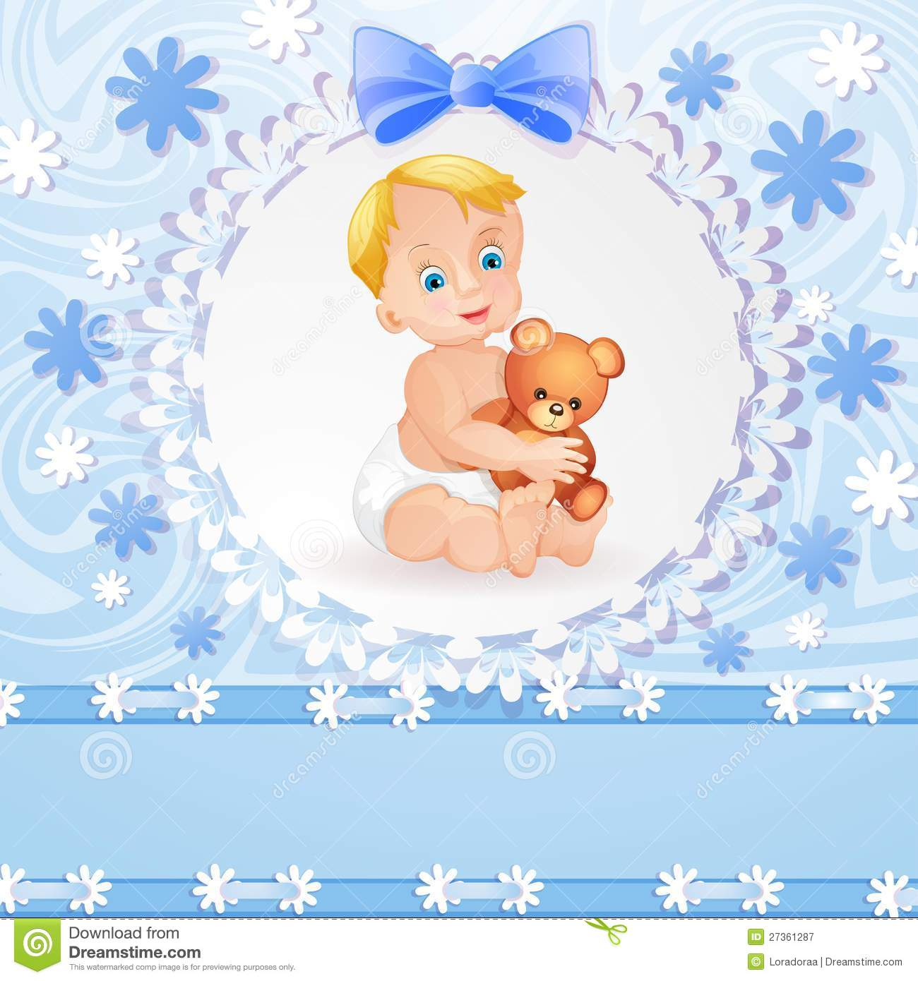 Baby Boy Background Royalty Free Stock Photography - Image: 27361287