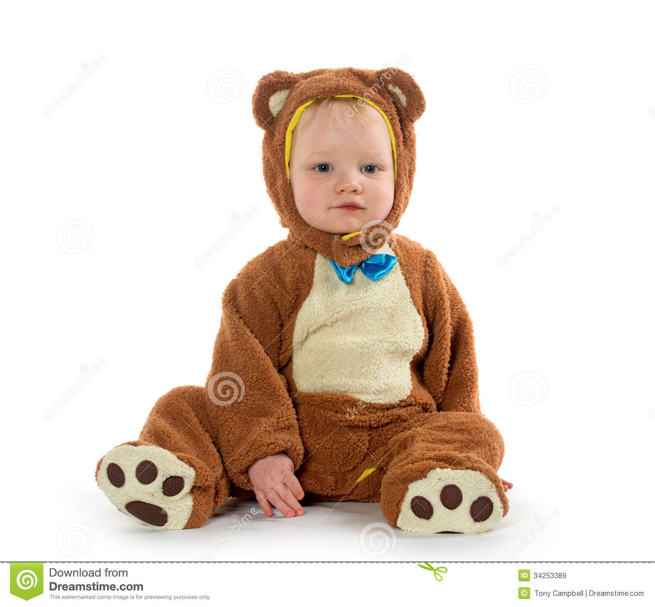 baby boy in bear costume stock image. image of halloween - 34253389