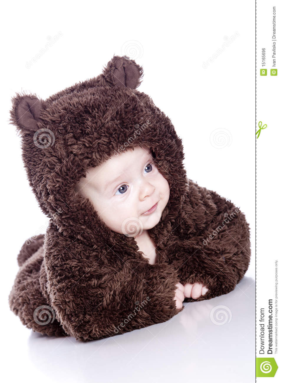 e70285aab82a Baby boy in a bear suit stock photo. Image of infant - 15165696