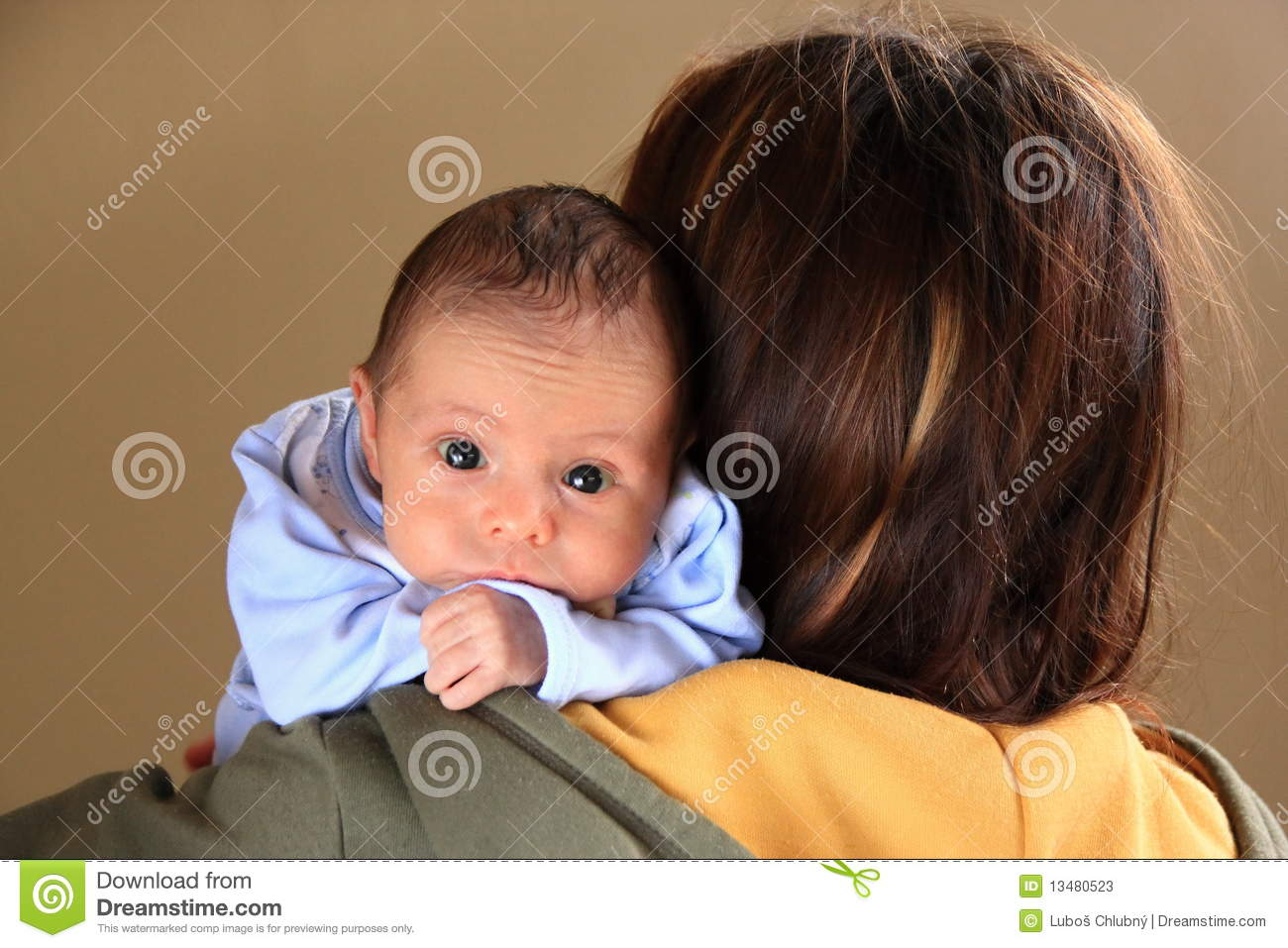baby boy with big blue eyes and mother stock photos image 13480523. Black Bedroom Furniture Sets. Home Design Ideas