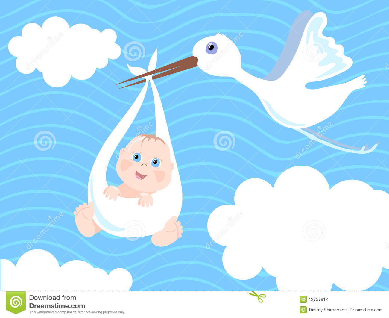 Baby Boy Birth Announcement Stock Photography
