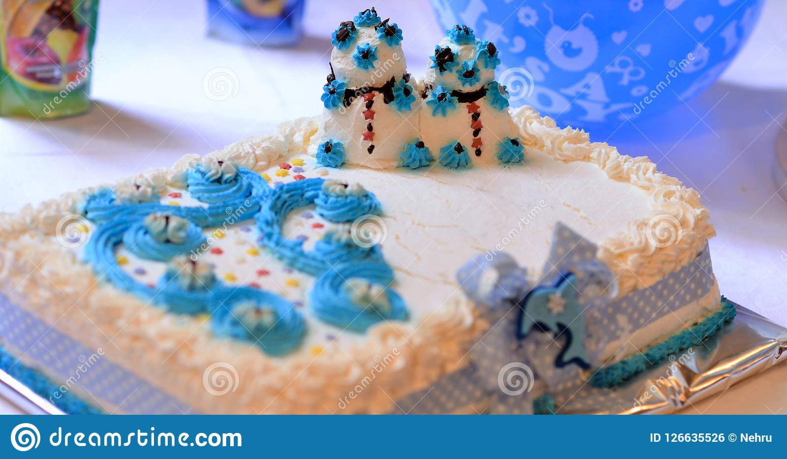 Cool Baby Boy Birthday Cake Image Of A Stock Photo Image Of Funny Birthday Cards Online Elaedamsfinfo
