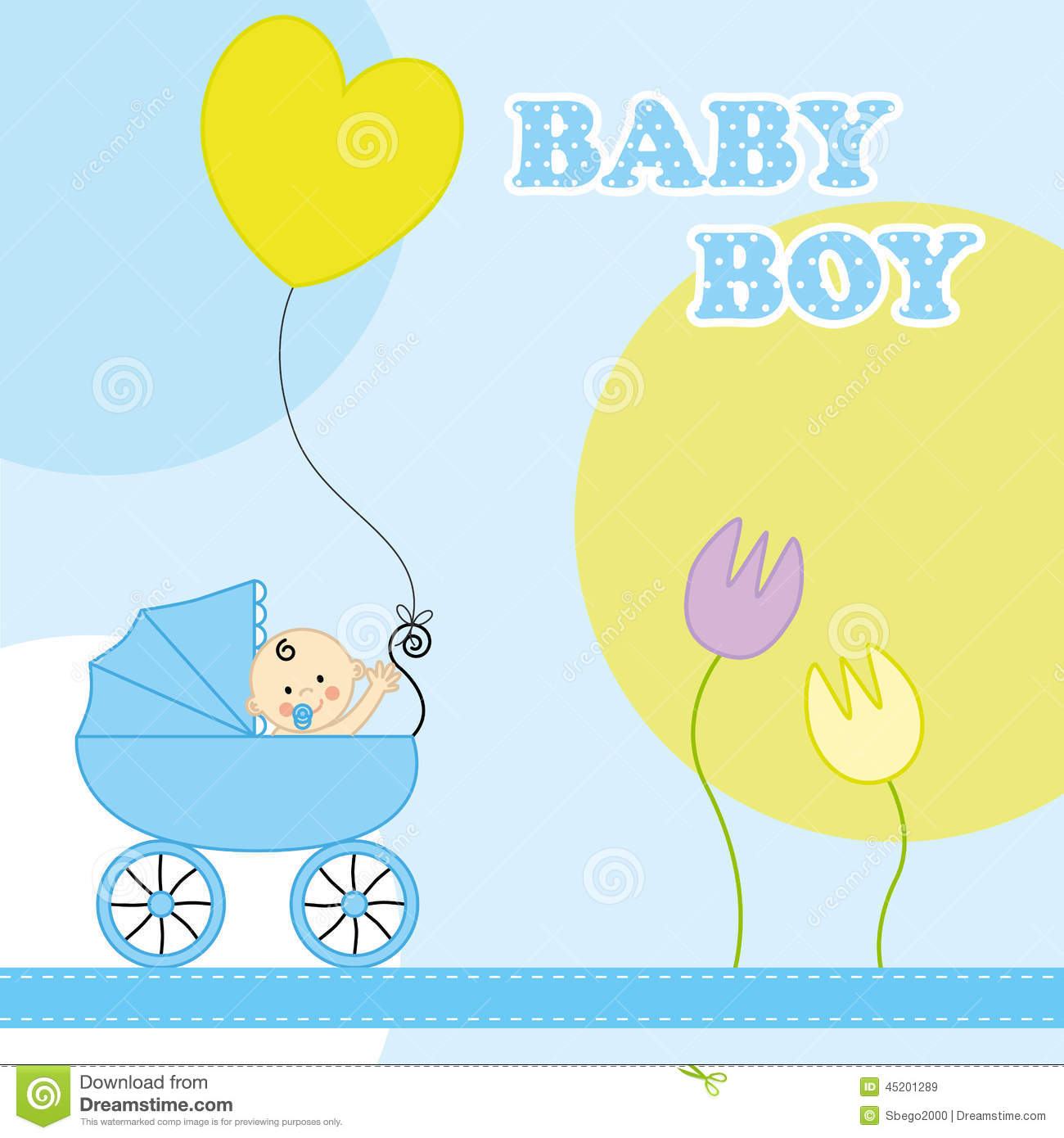 baby boy birthday card stock vector  image, Birthday card