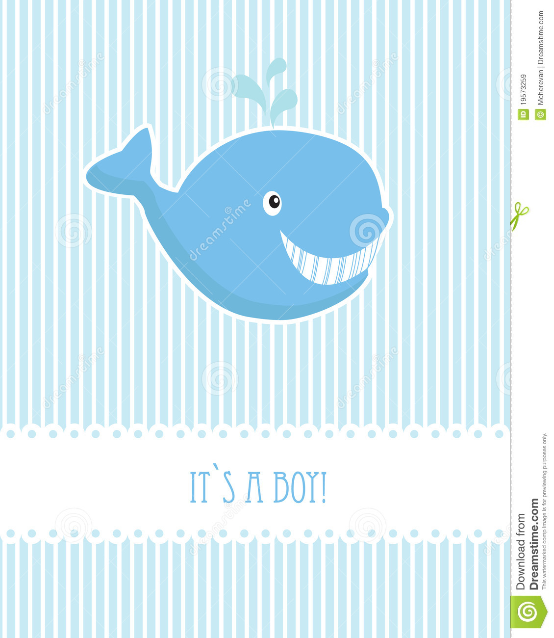 Baby Boy Birthday Card With Whale Royalty Free Stock Images - Image ...