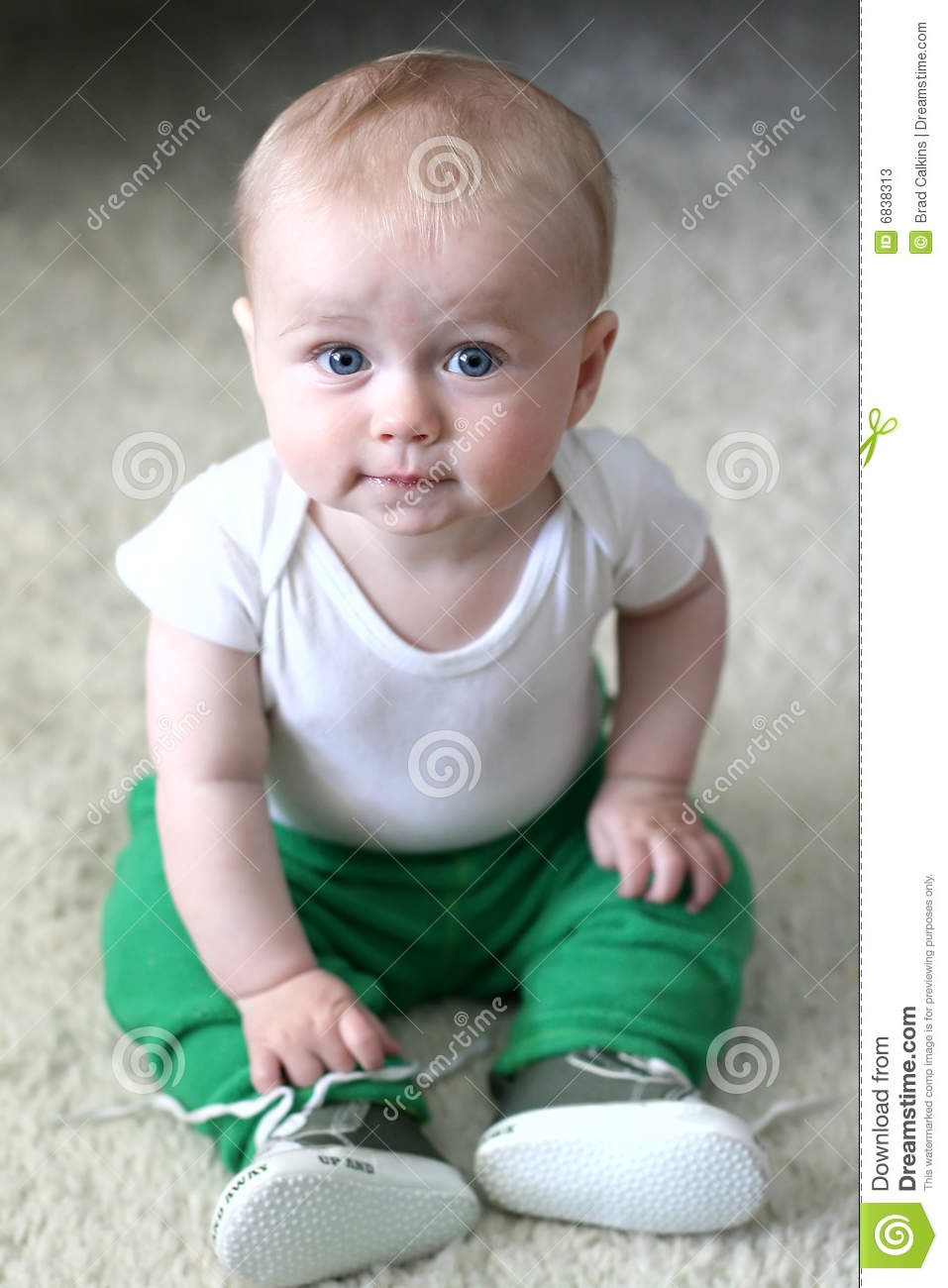 42869693e Baby boy with blue eyes stock image. Image of clothed - 6838313
