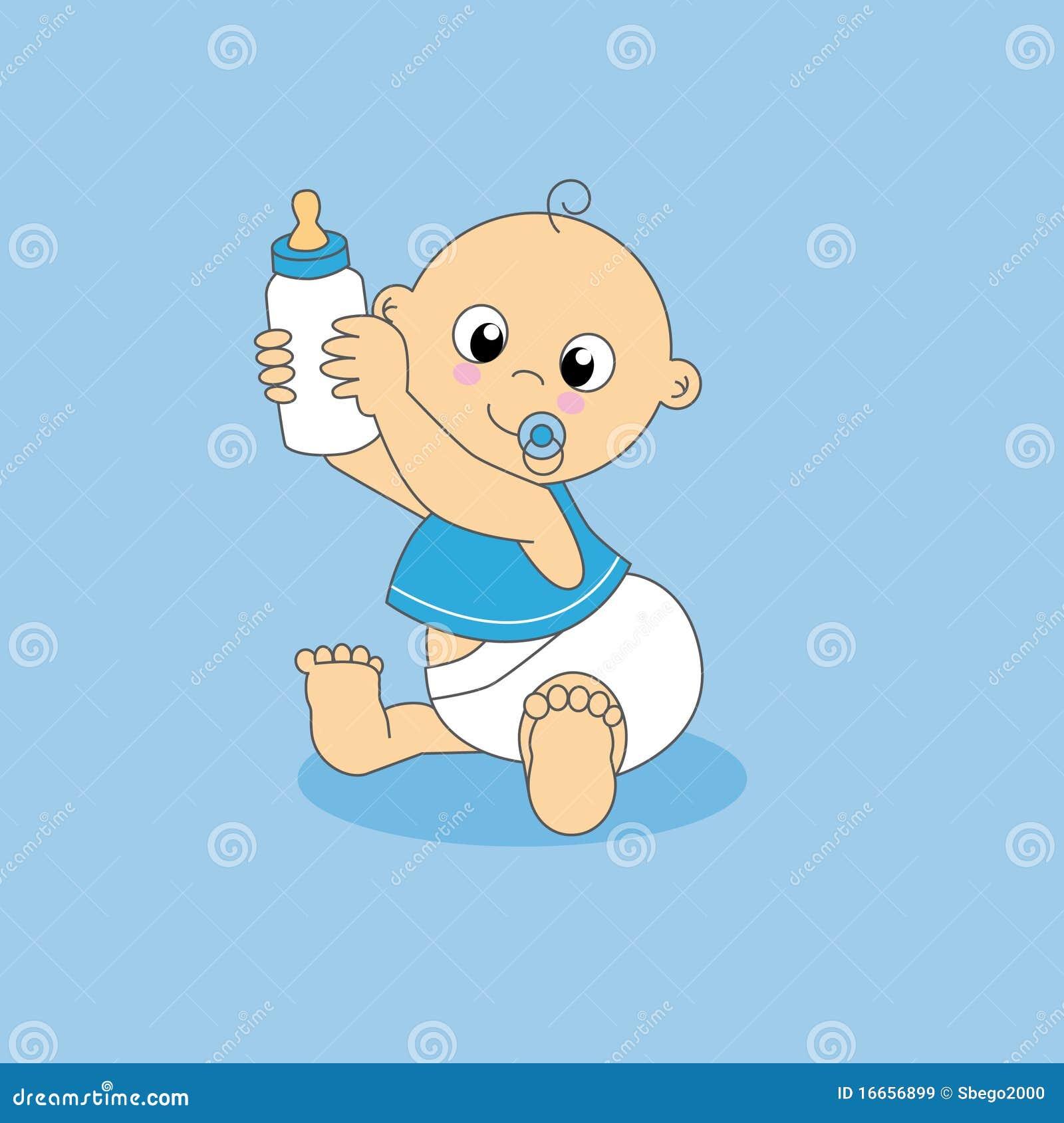 Baby boy, bottle