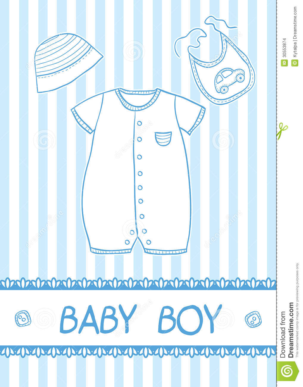 Baby Boy Card Stock Images - Image: 30553874