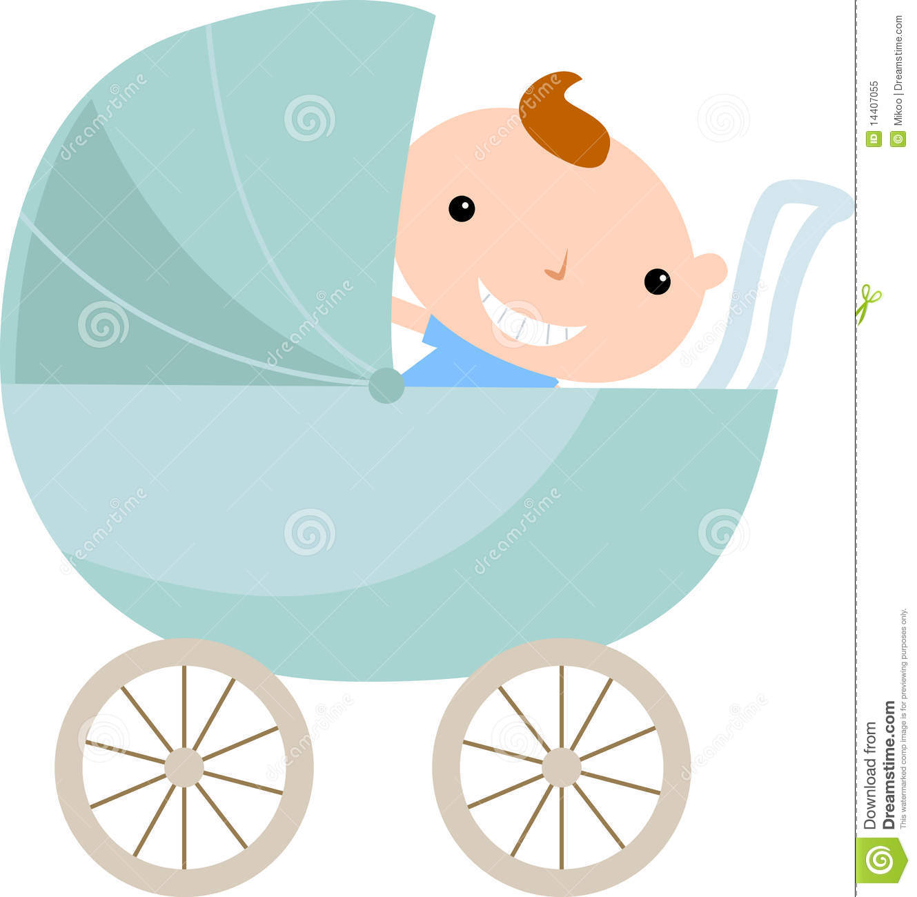 Baby Boy In Carriage Royalty Free Stock Photo - Image: 14407055