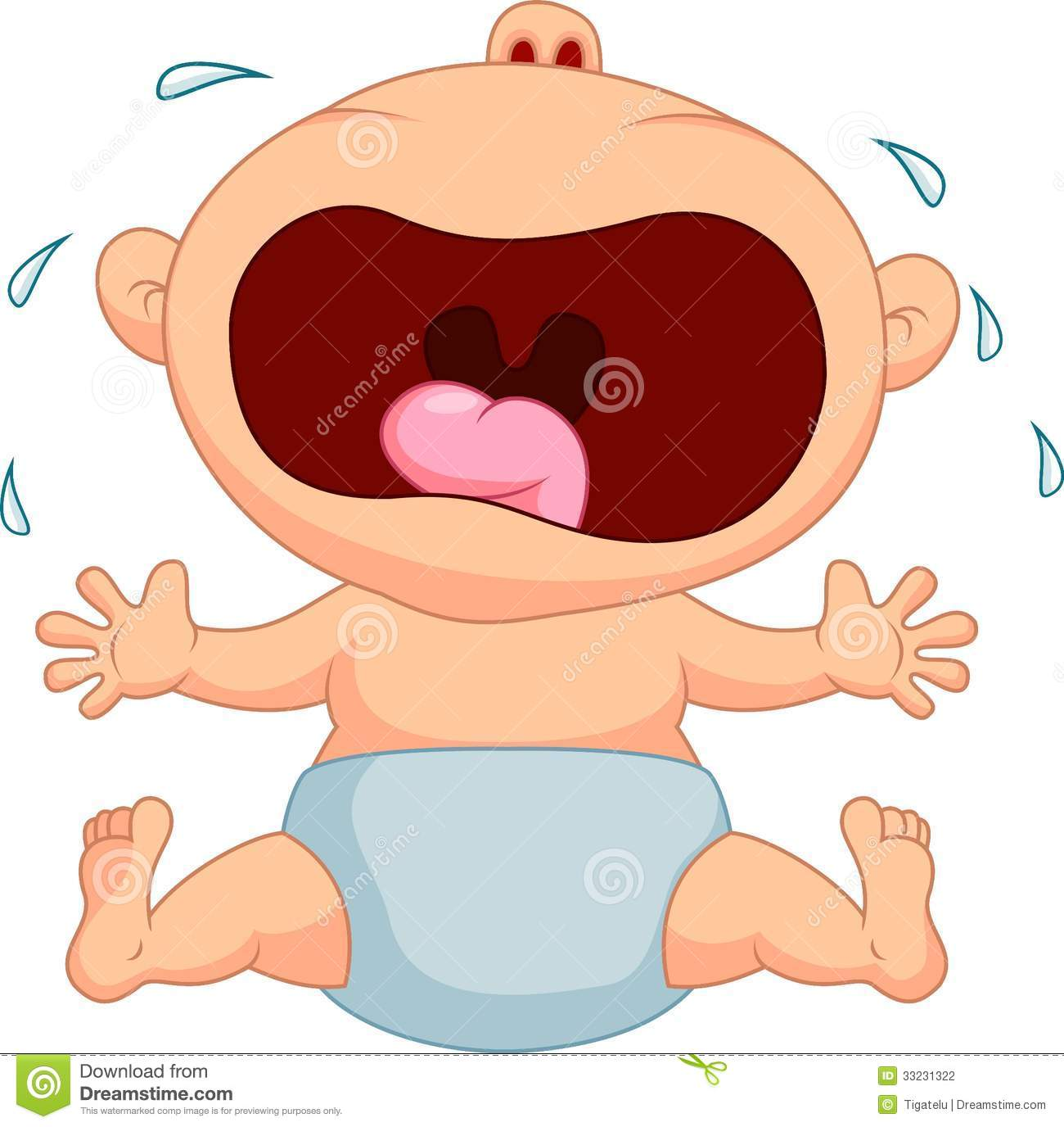 baby boy cartoon crying stock vector image of little 33231322. Black Bedroom Furniture Sets. Home Design Ideas
