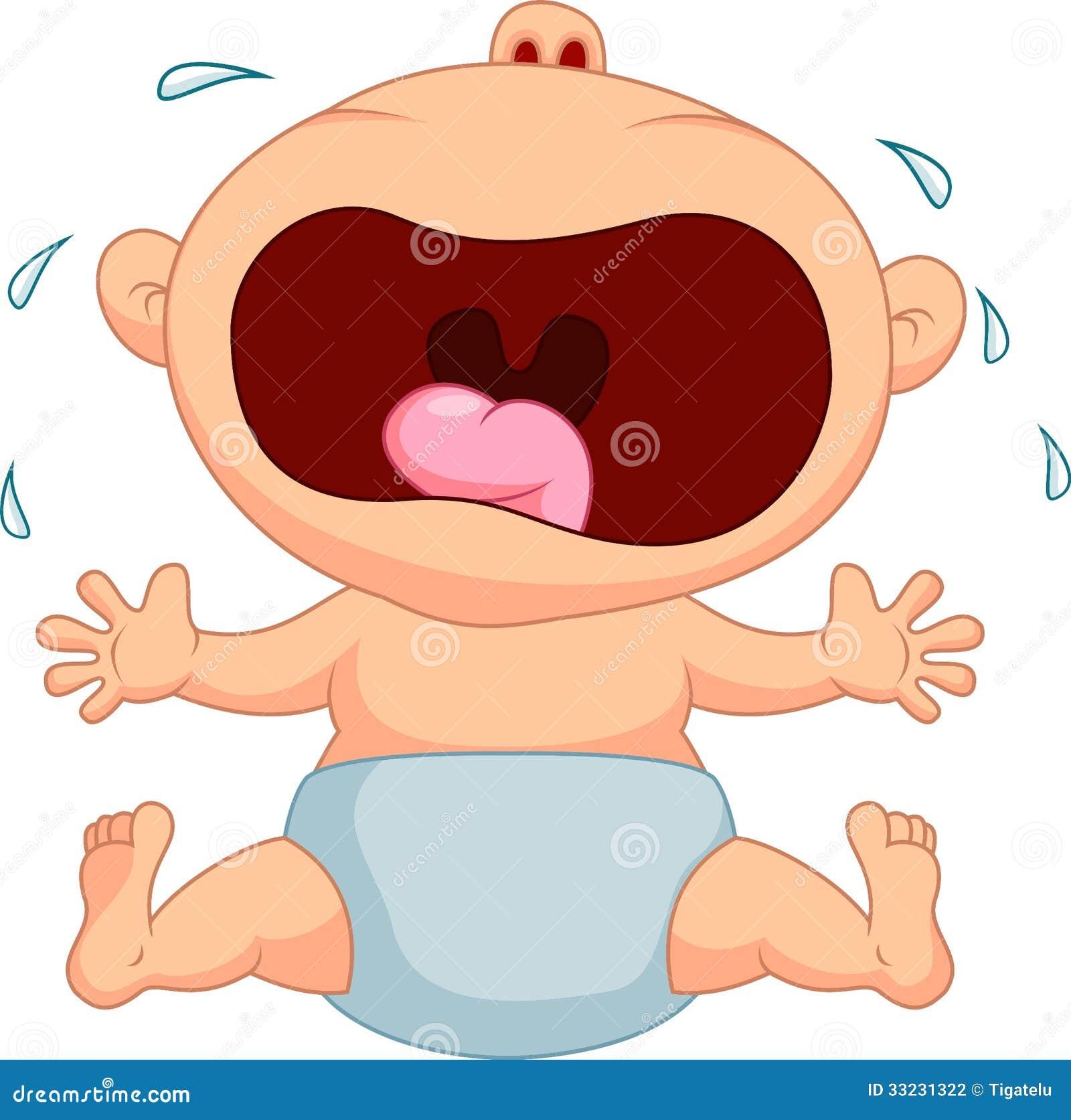 Baby boy cartoon crying