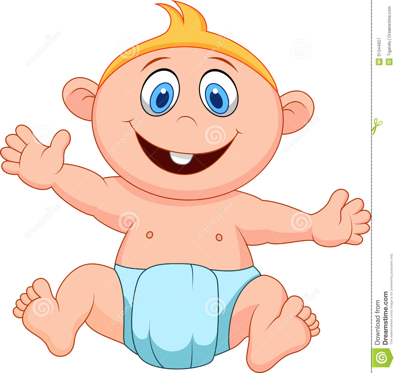 Baby boy cartoon stock vector illustration of brother 31344927 baby boy cartoon voltagebd Image collections