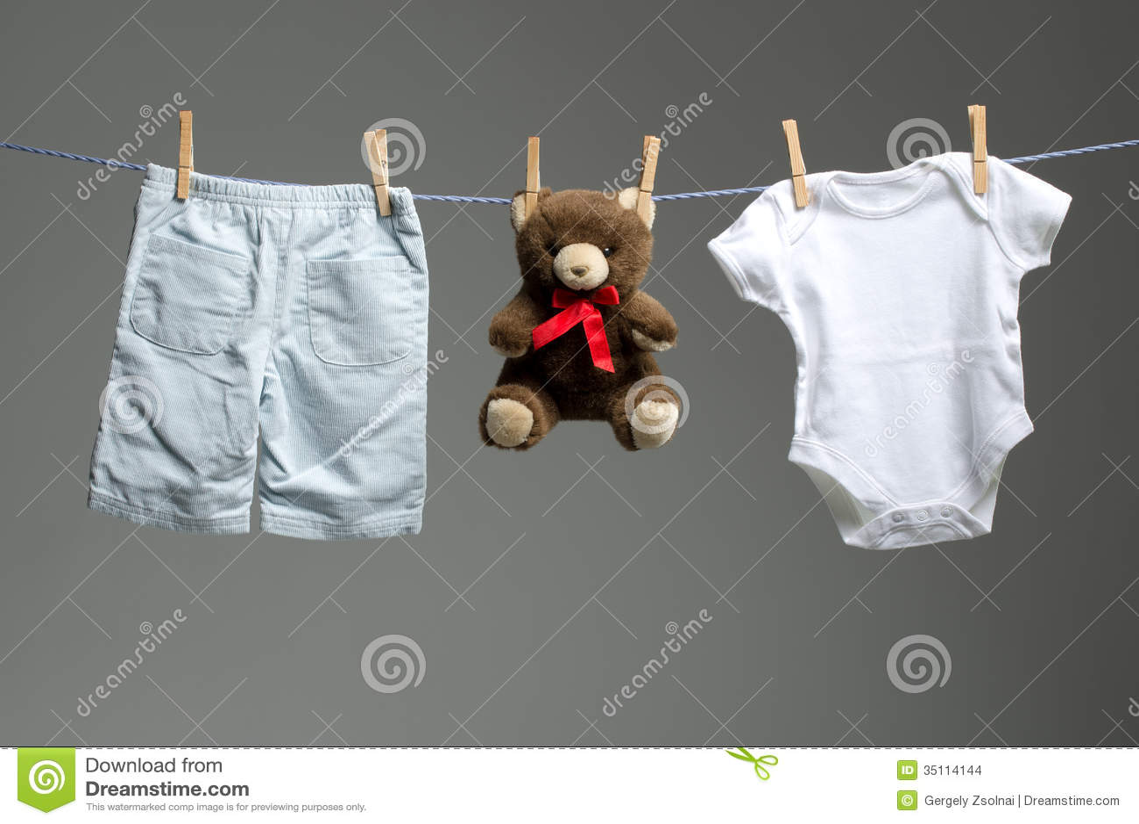 Baby Boy Clothes A Teddy Bear The Clothesline Stock
