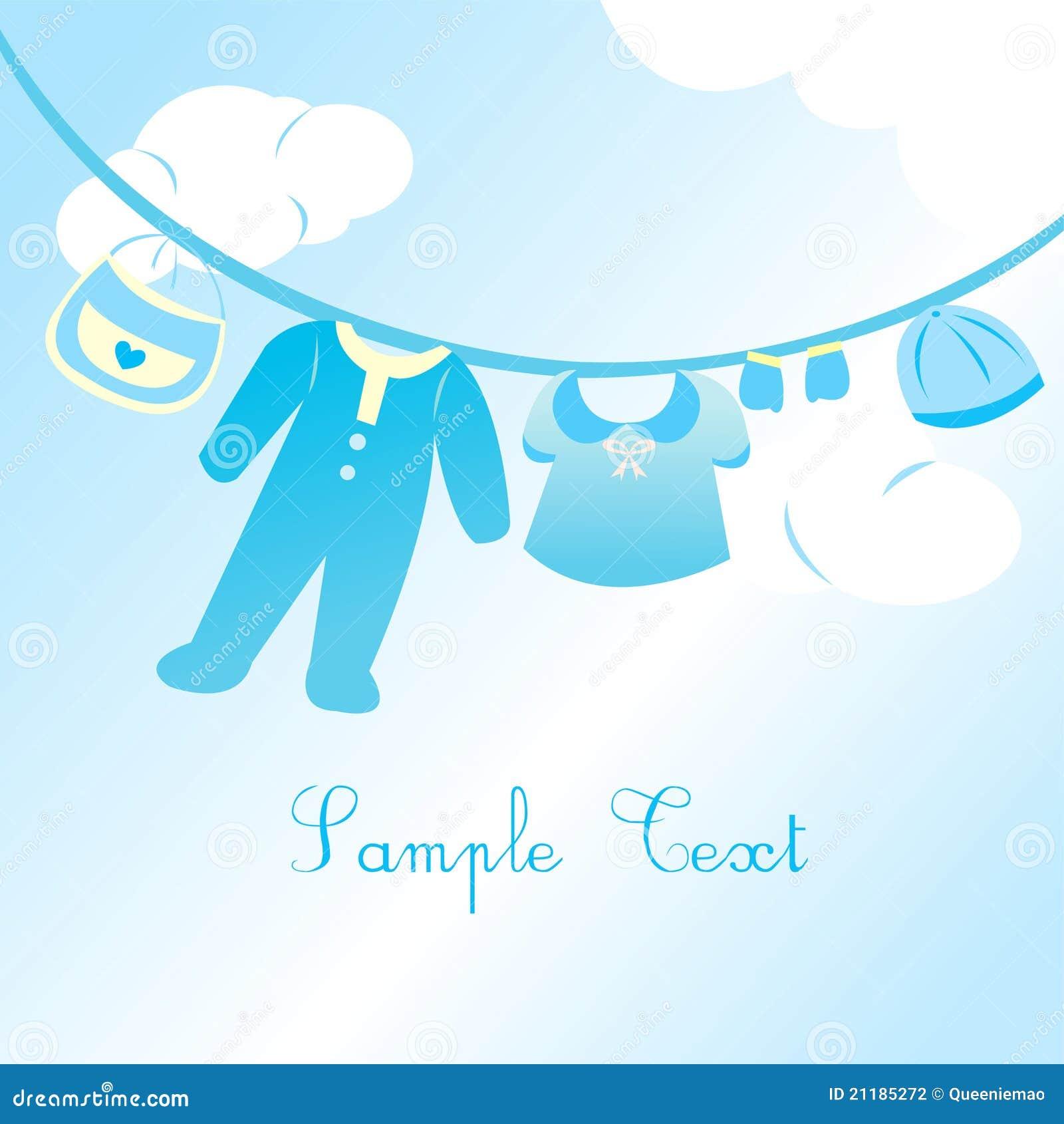 Baby boy clothing card
