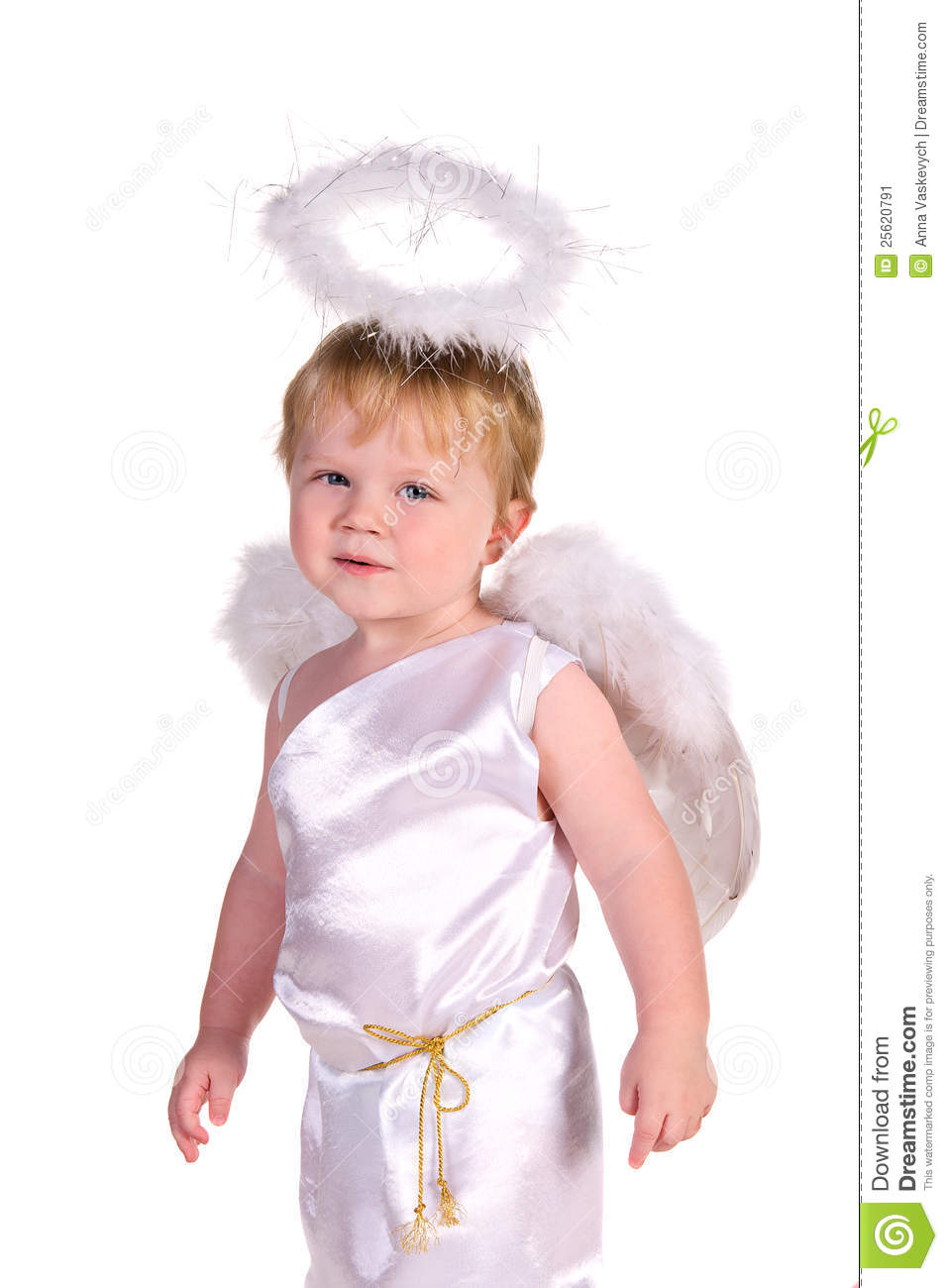 Baby Boy In Costume Of Angel Stock Image Image 25620791