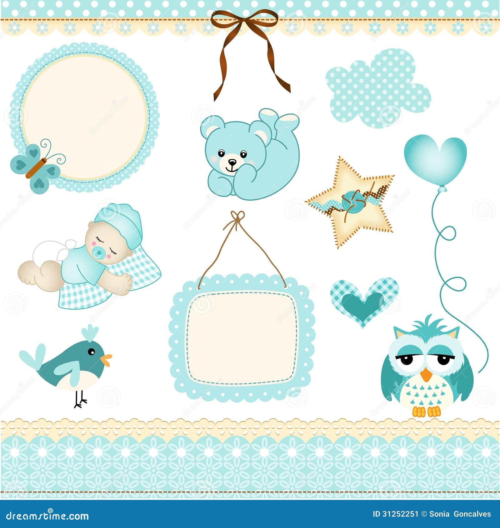 Baby boy design elements stock vector illustration of for Design finder