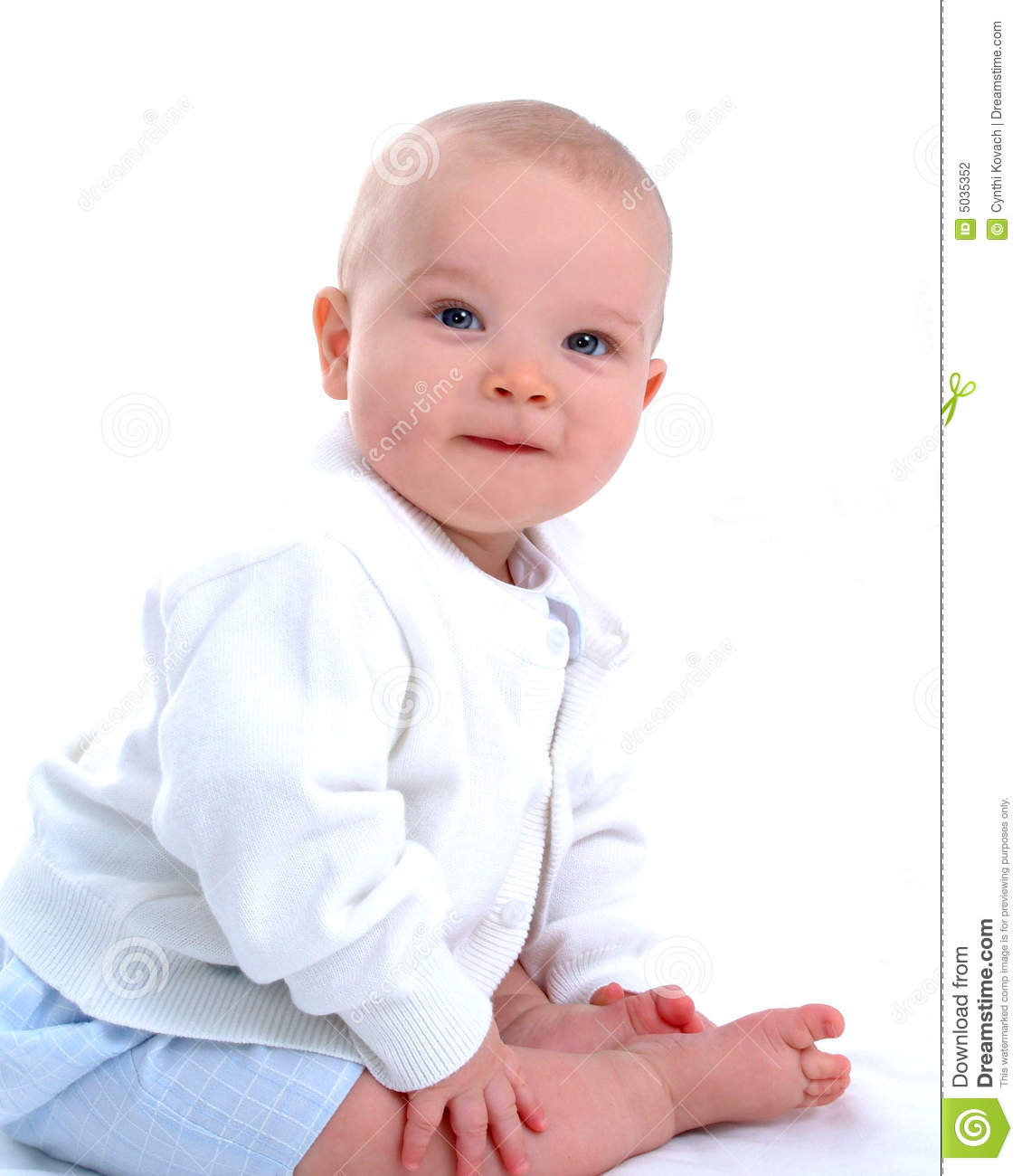 baby boy with dimple stock photo. image of sitting, smiling - 5035352