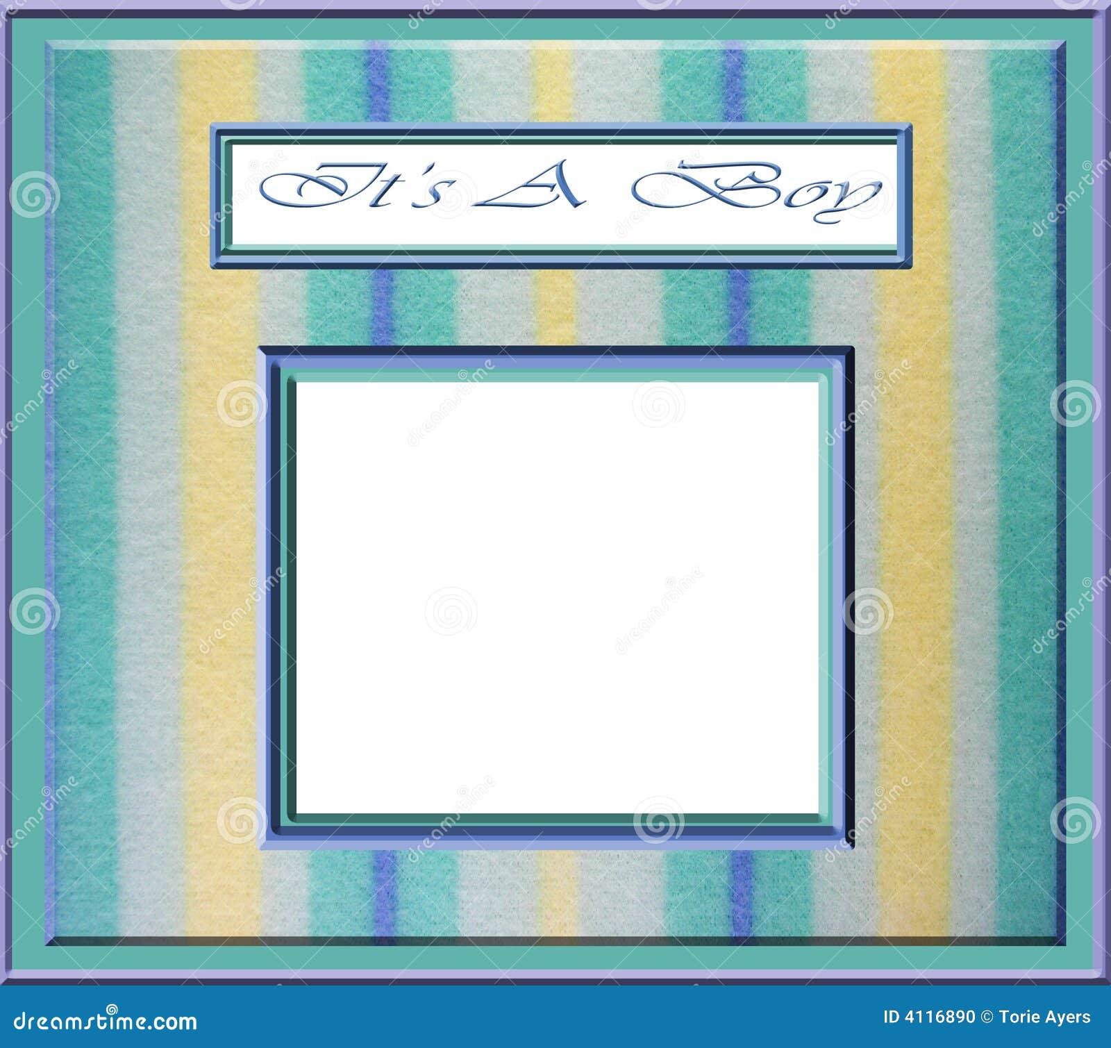 Baby Boy Frame Stock Illustration Illustration Of Stripe 4116890