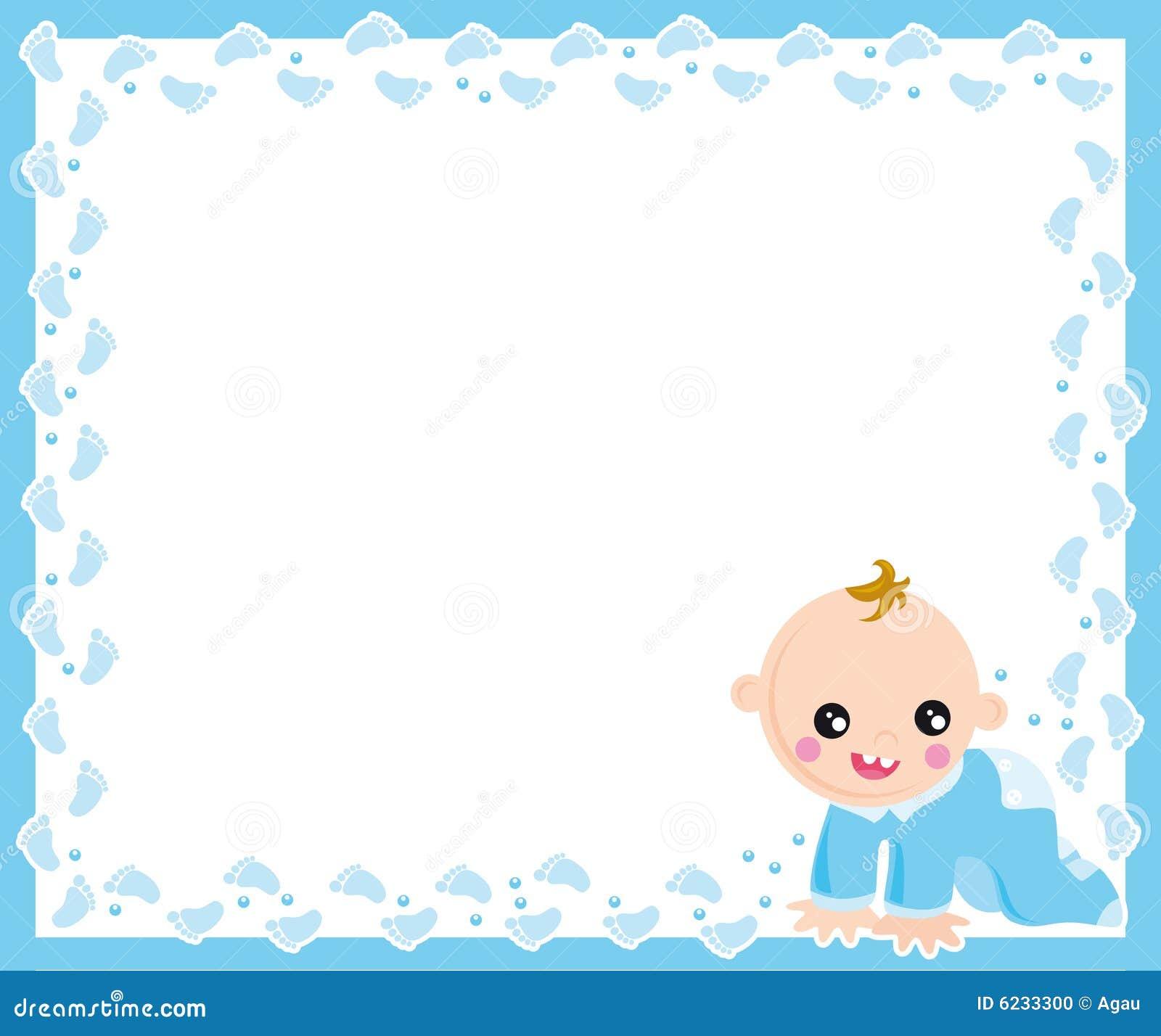 Baby boy frame stock vector. Illustration of child, birthday - 6233300