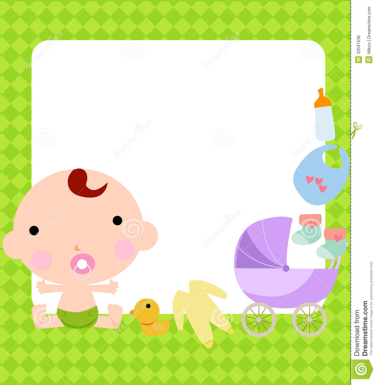 baby boy and frame illustration 33591636 megapixl