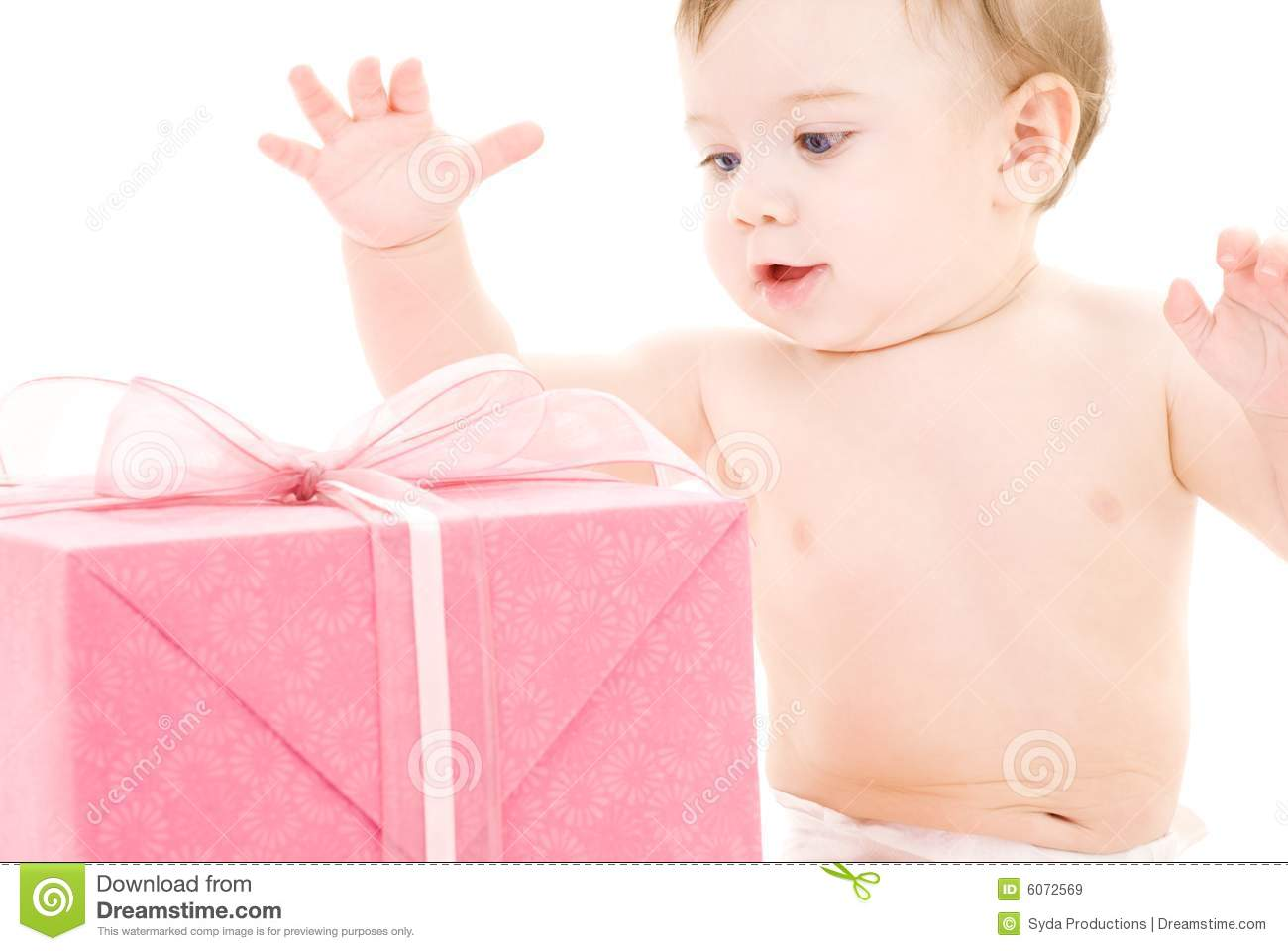 Baby Gift Images : Baby boy with gift box royalty free stock images image