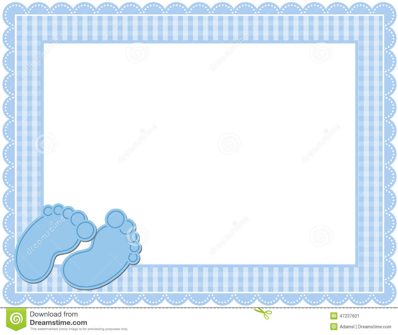 baby boy gingham frame stock vector illustration of celebration