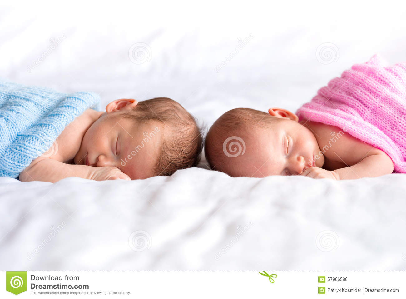 Baby boy and girl twins in bed stock photo image 57906580 for Boys and girls in bed