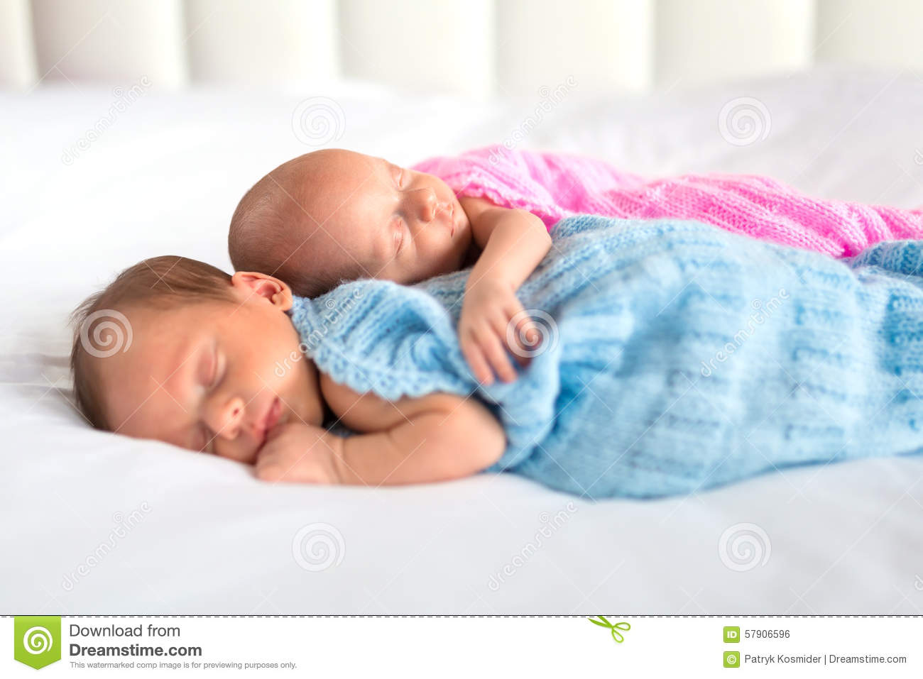 Baby boy and girl twins in bed stock photo image 57906596 for Boys and girls in bed