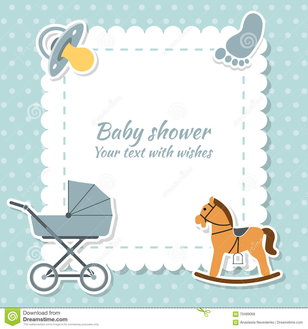 Baby boy greeting card baby shower stock vector illustration of baby boy greeting card baby shower negle Gallery