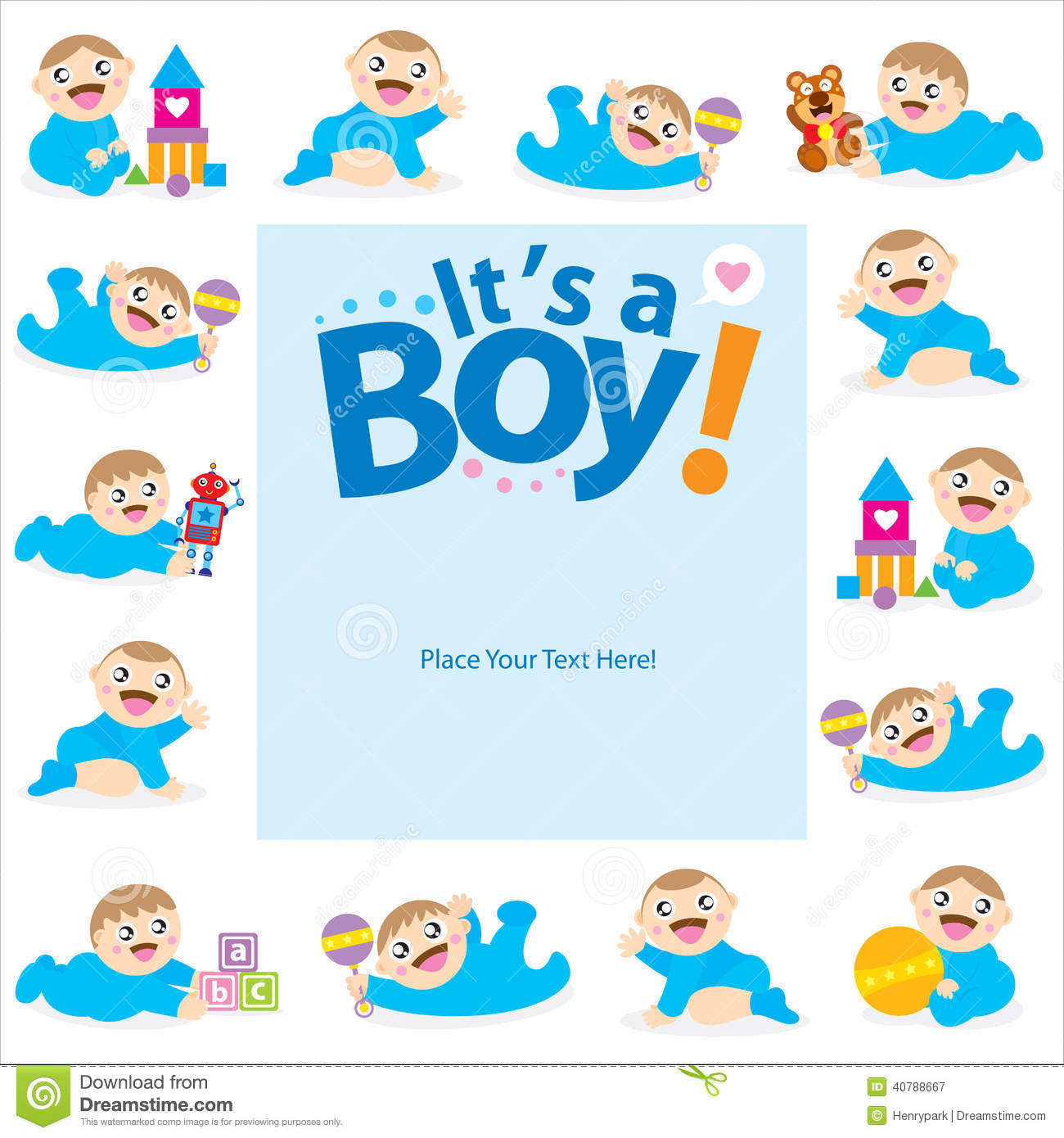 Baby boy greeting card design stock vector illustration of baby boy greeting card design m4hsunfo