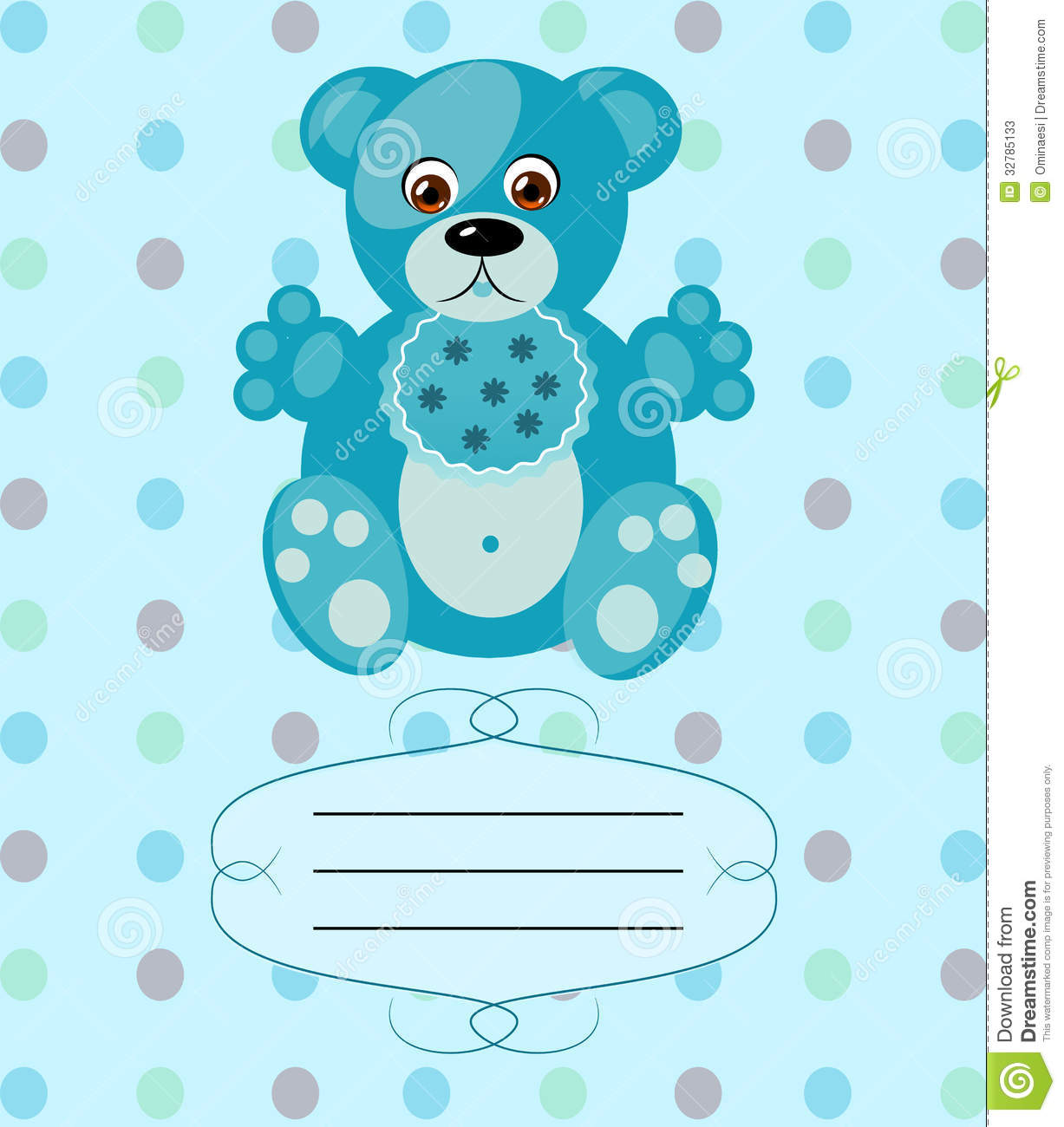 Baby Boy Greeting Card Vector Background Eps10 Stock