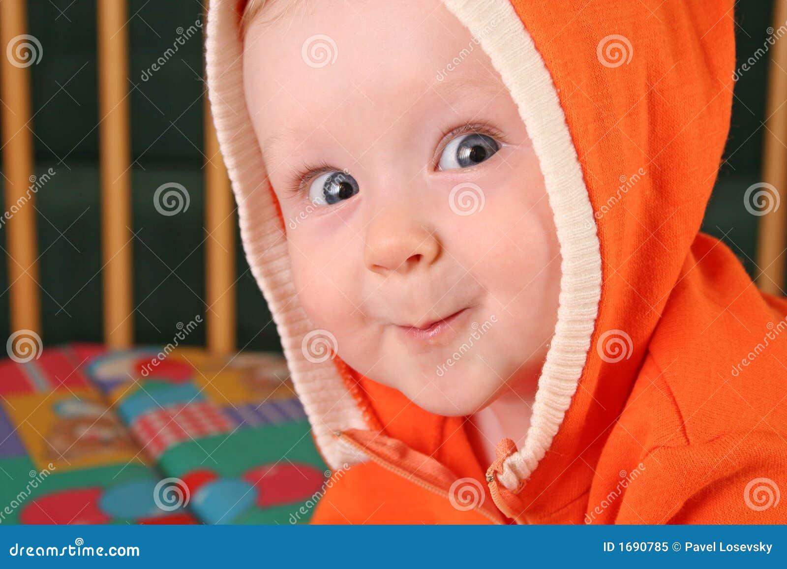 Baby boy with hood