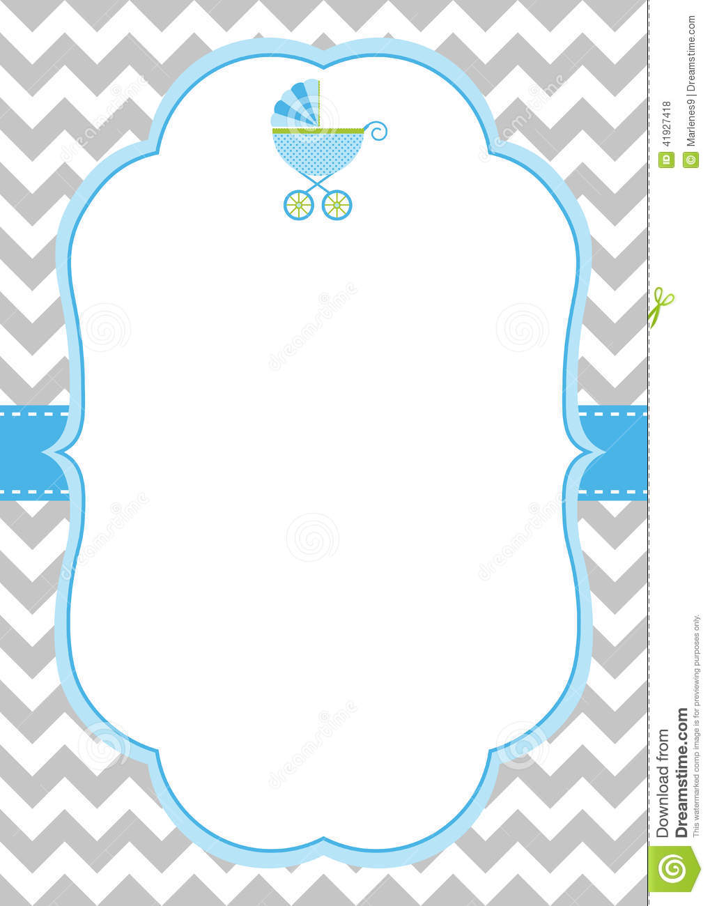 Baby Boy Invitation Card Illustration 41927418 - Megapixl