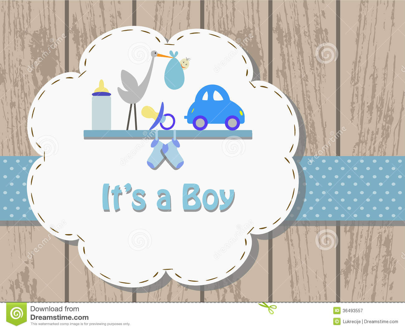 Baby Boy Invitation Card Royalty Free Photography Image – Baby Birth Invitation Card