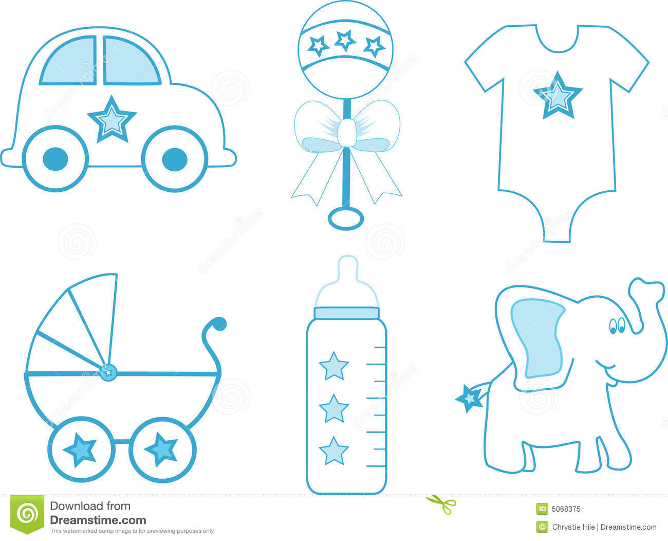 Baby Boy Items stock vector Image of pram soft suit